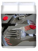 Red Button Impact Duvet Cover
