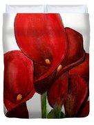 Red Callas Duvet Cover