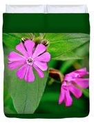 Red Campion - Fairy Flower. Duvet Cover