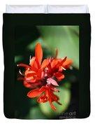 Red Canna Flower Duvet Cover