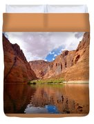 Red Canyon Reflections Duvet Cover
