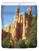 Red Canyon Twins Duvet Cover by David King