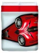 Red Car 007 Duvet Cover