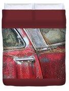 Red Car Door Handle Duvet Cover