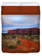 Red Center Dawn Duvet Cover