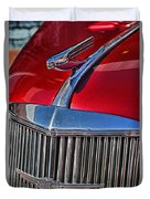 Red Chevrolet Grill And Hood Ornament Duvet Cover