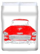 Red Chevy T-shirt Duvet Cover
