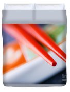 Red Chopsticks Duvet Cover