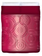 Red Circle Background Duvet Cover
