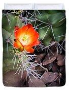 Red Claretcup Cactus Duvet Cover