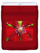 Red Clematis Duvet Cover
