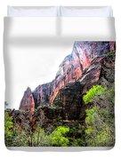 Red Cliffs Zion National Park Utah Usa Duvet Cover