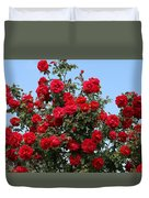 Red Climbing Roses Duvet Cover