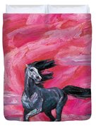 Red Cloud Horse Duvet Cover