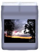 Red Cloud, Pittsburgh, Pa  Duvet Cover
