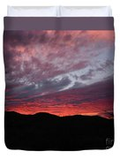Red Cloud Sunset Duvet Cover