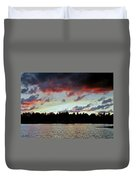 Red Clouds Duvet Cover