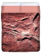 Red Colored Limestone With Grooves Duvet Cover