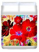 Red Cosmos Duvet Cover