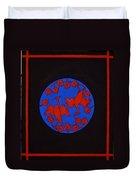 Red Cranes Duvet Cover