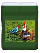 Red-crested Cardinal Birds #77 Duvet Cover