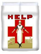 Red Cross Nurse - Help Duvet Cover