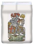 Red Cross Knight, 1598 Duvet Cover