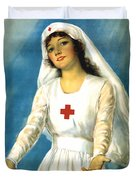 Red Cross Nurse - Ww1 Duvet Cover
