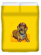 Red Dachshund - Tigger Smiles Duvet Cover