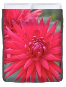 Red Dahlia Delight Duvet Cover