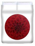 Red Dahlia Duvet Cover