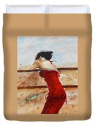 Red Dancer Duvet Cover