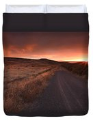 Red Dawn Duvet Cover