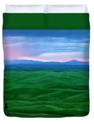 Red Dawn Over The Palouse Duvet Cover