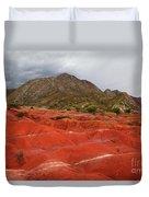 Red Desert Landscape Torotoro National Park Bolivia Duvet Cover