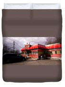 Red Diner Duvet Cover