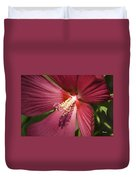 Red Disco Belle Hibiscus Painting Duvet Cover
