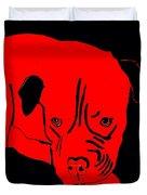 Red Dog Duvet Cover