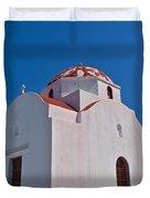 Red Domed Church Duvet Cover