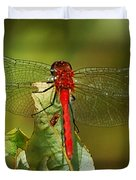 Red Dragon Fly Duvet Cover