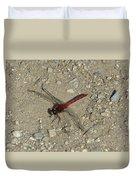 Red Dragonfly Duvet Cover