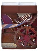 Red Drive Cog Duvet Cover