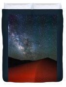 Red Dunes At Night Duvet Cover