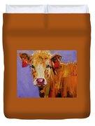 Red Earring Cow Duvet Cover