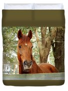 Red Ears Up Duvet Cover
