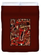 Red Existence Duvet Cover