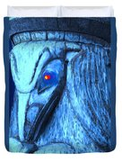 Red Eyed Raven Duvet Cover