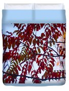 Red Fall Colors Duvet Cover