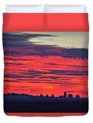 Red Farm Sunrise Duvet Cover