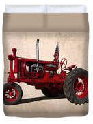 Red Farmall Tractor Duvet Cover